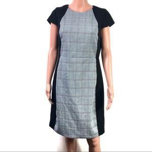 J. Crew Black Label Checked GrayBlack Sheath Dress